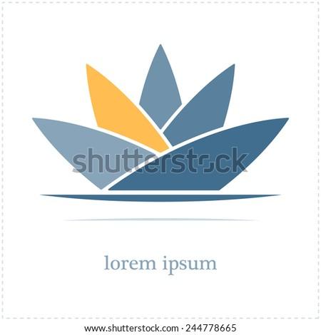 abstract lotus flower.vector illustration - stock vector