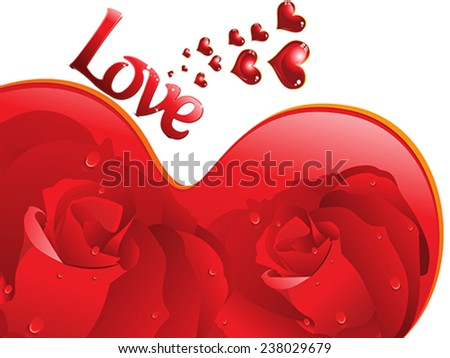 abstract love background vector illustration - stock vector