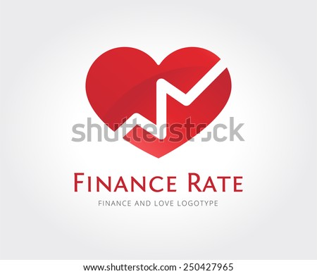 Abstract love rate vector logo template for branding and design - stock vector