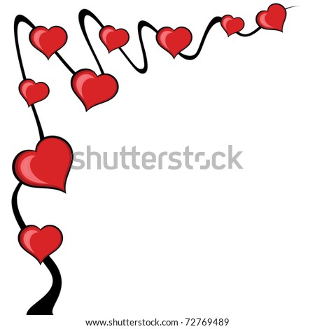 Abstract love tree background. Vector Illustration. - stock vector