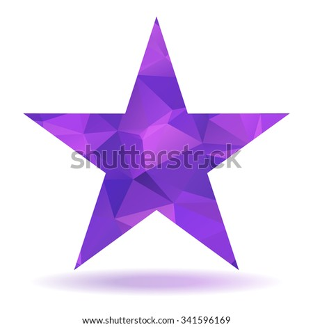 Abstract lovely colored star with triangular pattern