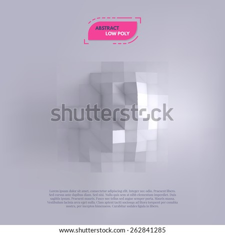 Abstract low poly background. Vector illustration EPS10. - stock vector