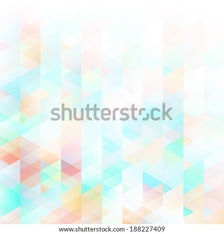Abstract lowpoly background. EPS 10 vector illustration. Used meshes and transparency layers of particles - stock vector