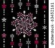 Abstract luxury snowflake. Illustration vector. - stock vector