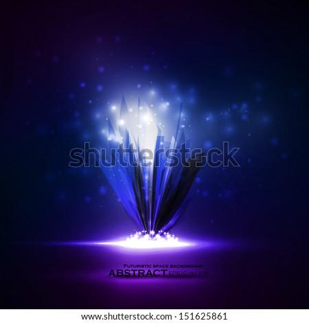 Abstract magic crystal, vector futuristic illustration eps10 - stock vector