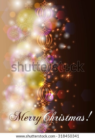 Abstract magic light background. Merry Christmas - stock vector