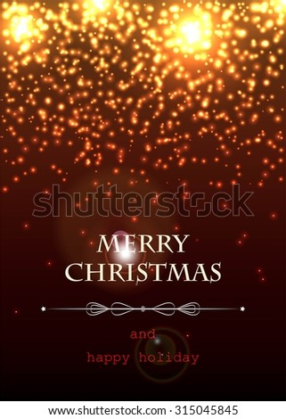 Abstract magic light background. Merry Christmas and happy holiday - stock vector