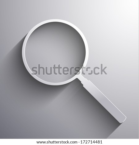 Abstract Magnifying glass sign - eps10 vector - stock vector
