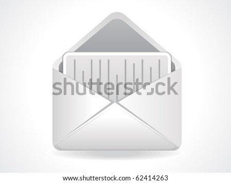abstract mail icon vector illustration - stock vector