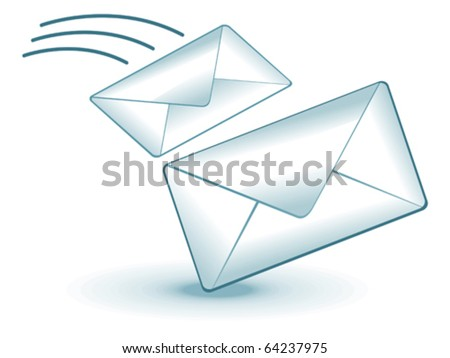 abstract mail icon vector illustration