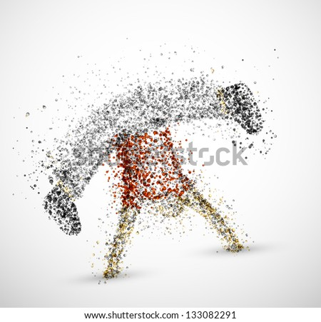 Abstract male from circles. Eps 10 - stock vector