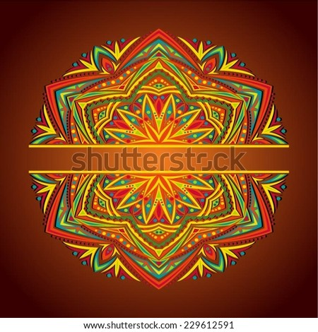 Abstract Mandala. Decorative element for design. Vector illustration. - stock vector