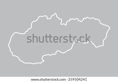 abstract map od Slovakia - stock vector