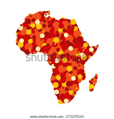 Abstract map of Africa - stock vector