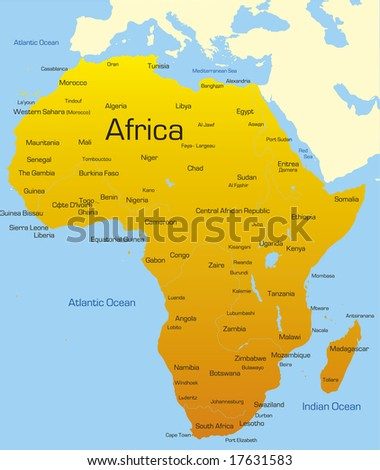 abstract map of africa continent