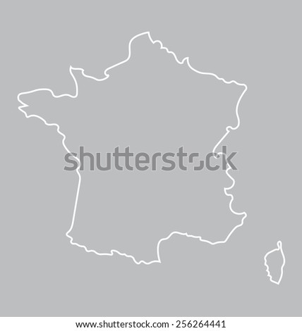 abstract map of France - stock vector