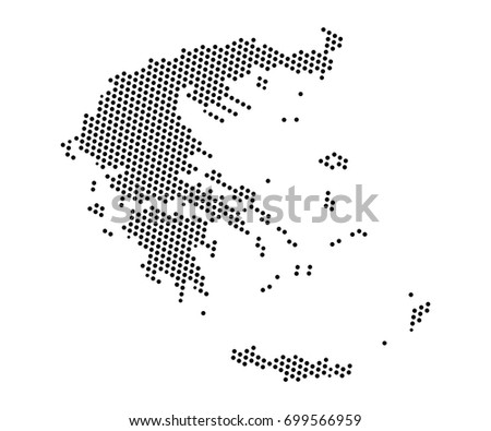 Transparent high detailed black map greece vectores en stock abstract map of greece dots planet lines global world map halftone concept vector gumiabroncs Image collections