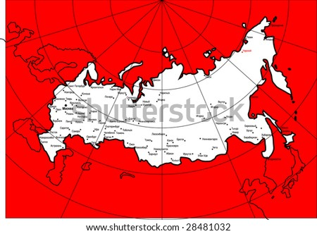 abstract map of Russia 5