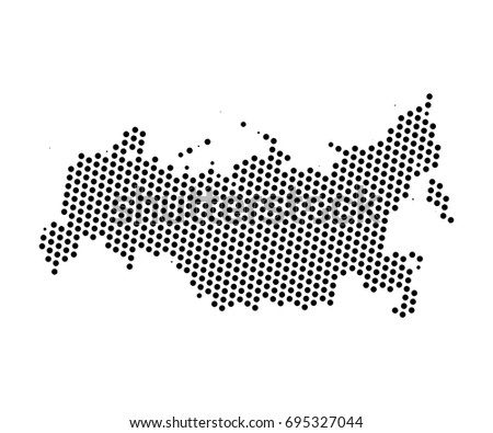 Abstract map russia dots planet lines stock vector 2018 695327044 abstract map of russia dots planet lines global world map halftone concept vector gumiabroncs Image collections