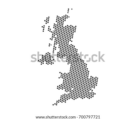 Abstract map united kingdom dots planet stock vector 2018 abstract map of united kingdom dots planet lines global world map halftone concept gumiabroncs Images