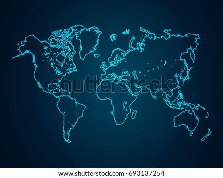 Abstract mash line point scales on stock vector 2018 693137254 abstract mash line and point scales on dark background with map world wire frame 3d gumiabroncs Image collections