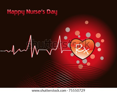 abstract medical concept background for nurse's day
