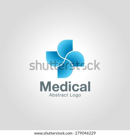 Abstract Medical cross logo template. Corporate branding identity - stock vector