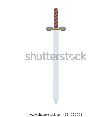 abstract medieval weapon on a white background
