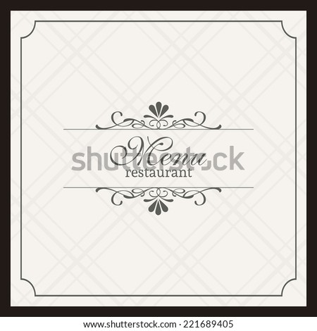 Abstract menu background with some special objects - stock vector
