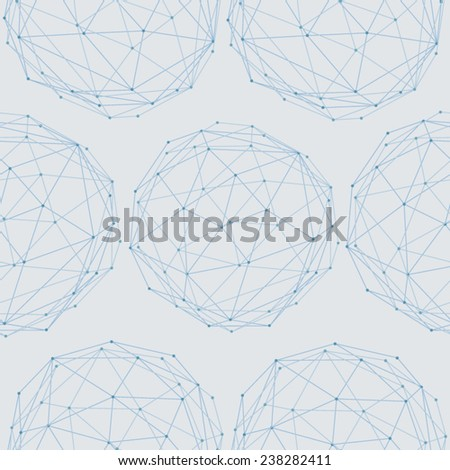Abstract mesh geometry - stock vector