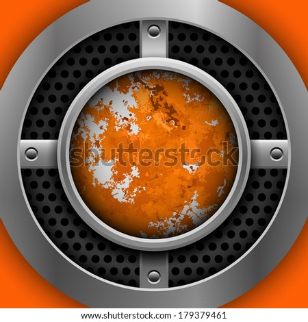 Abstract metal background - stock vector