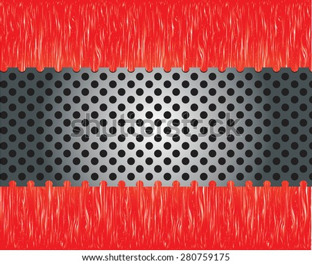 Abstract metal background. - stock vector