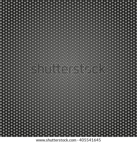 Abstract metal background.  Honeycomb metal background . Vector illustration. - stock vector