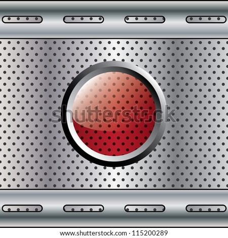 Abstract metal background on texture. - stock vector