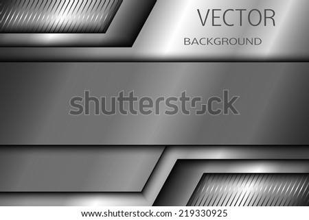 Abstract metal background. Vector EPS 10. - stock vector
