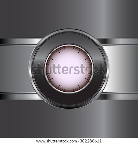 Abstract metal background with button