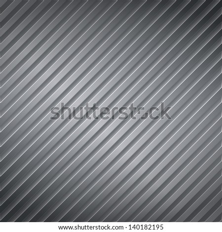 Abstract metal striped background, vector eps10 illustration - stock vector