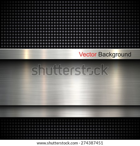 Abstract metal template background design, vector illustration - stock vector