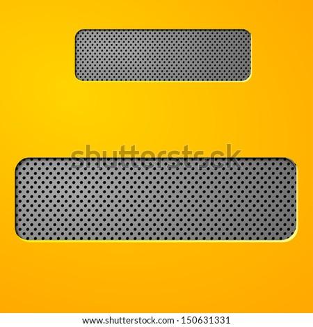Abstract metallic  background - stock vector