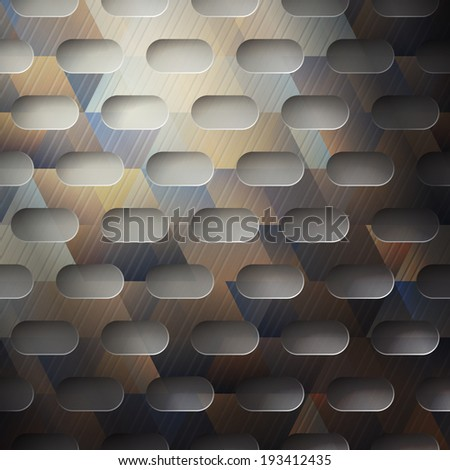 abstract metallic background with colored surface - stock vector