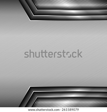 Abstract metallic background with glossy metallic elements. - stock vector