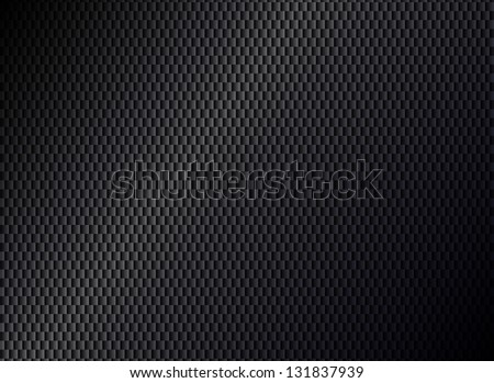 Abstract metallic black background - stock vector