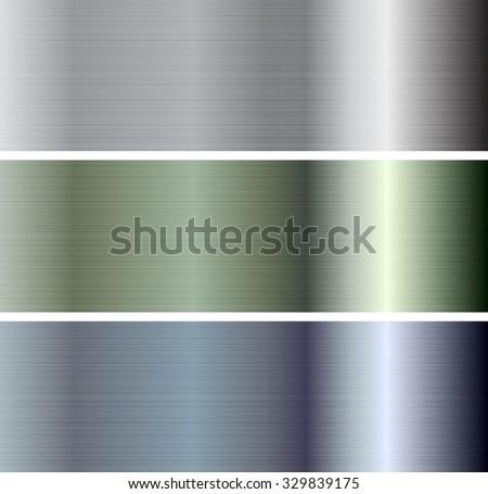 Abstract metallic plate banners. Vector design - stock vector