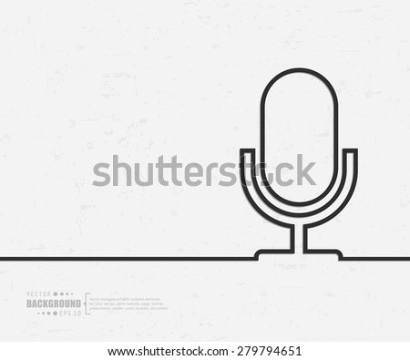 Abstract microphone vector background. For web and mobile applications, illustration template design, creative business info graphic, brochure, banner, presentation, concept poster, cover, booklet, document. - stock vector