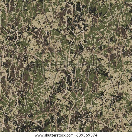Abstract Military Hunting Camouflage Background Seamless