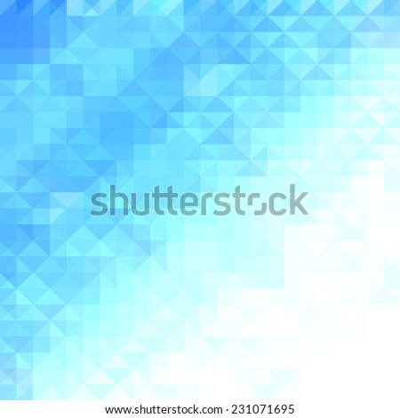 Abstract minimal background with white and blue pixels, abstract blue background. Ideal for brochure cover or business concept designs - stock vector