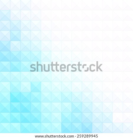 Abstract minimal background with white and blue pixels, abstract blue background. Ideal for brochure cover or business concept designs. - stock vector
