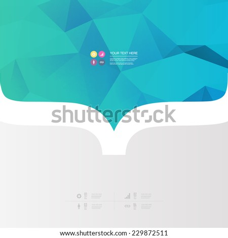 Abstract minimal color design with your text  Eps 10 stock vector illustration  - stock vector