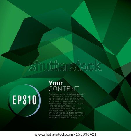 Abstract minimal geometric eps10 vector background in green retro style for universal use - stock vector