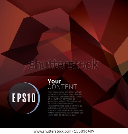 Abstract minimal geometric eps10 vector  background in red retro style for universal use - stock vector